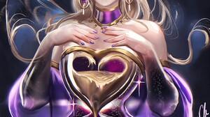 Sakimichan Anime Girls Anime Blonde Fantasy Girl Painted Nails 1024x1355 Wallpaper