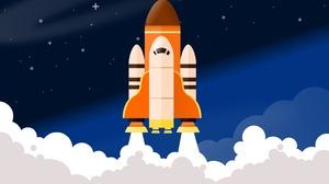 Artistic Smoke Space Shuttle 3076x2192 Wallpaper