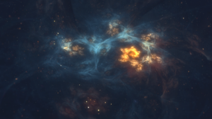 Space Universe Abstract Blue 2560x1440 Wallpaper