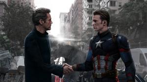 Captain America Chris Evans Robert Downey Jr Tony Stark 3840x2160 Wallpaper