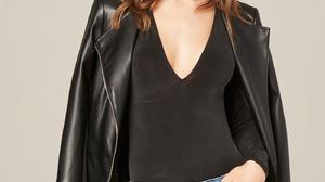 Women Model Brunette Long Hair Blue Eyes Leather Jackets Jeans 1400x2000 Wallpaper
