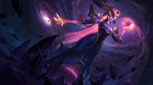 Lissandra League Of Legends Dark Cosmic Break Ice Crystals League Of Legends Riot Games Stars Galaxy 7680x4320 Wallpaper