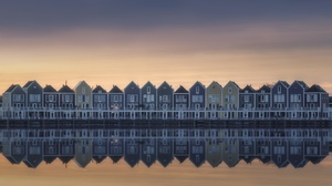 Architecture City House Houten Netherlands Reflection River 2048x1152 Wallpaper