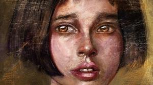 Face Girl Leon The Professional Mathilda Leon The Professional 2000x1621 wallpaper
