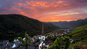 Chapel Church Sunset Mountain Landscape 1920x1280 Wallpaper