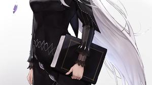 Re Zero Kara Hajimeru Isekai Seikatsu Witch Black Dress 2D Butterflies Hair Ornament Hair Blowing In 1060x1713 Wallpaper
