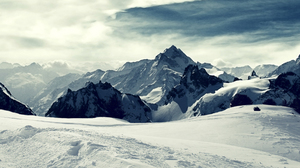 Snow Winter Mountains Nature Photography Clouds Sky Cold Australia 2560x1440 Wallpaper