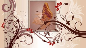 Artistic Butterfly Colors Design 1600x1000 Wallpaper
