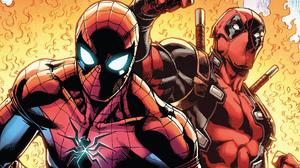 Comics Deadpool Marvel Comics Spider Man 1920x1080 Wallpaper
