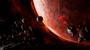 Meteorite Planet 3840x2160 Wallpaper