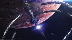 Artwork Science Fiction Space Space Station Planet 1920x1080 Wallpaper