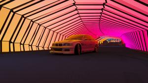 BMW M3 E46 BMW BMW M3 BMW M3 GTR Forza Games Forza Horizon 4 Sports Car Car Racer Tunnel 1920x1080 Wallpaper