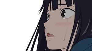 Crying Anime Girls Sad Tears Closeup Brown Eyes Dark Hair Simple Background Face Anime 2560x1600 Wallpaper