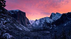 Mountain Yosemite National Park 7680x4320 wallpaper