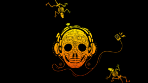 Artwork Music Headphones Minimalism 1680x1050 Wallpaper