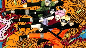 Naruto Uzumaki Sai Naruto Sakura Haruno Yamato Naruto 1920x1288 Wallpaper