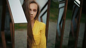 Women Model 500px Sergey Fat Long Hair Face Polina Artemeva 1920x1080 Wallpaper