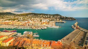 Boat City Cityscape France 4876x3255 Wallpaper