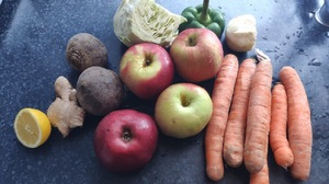 Vegetables Fruit Lemons Ginger Food Apples Carrots Bell Peppers Food 1303x977 Wallpaper