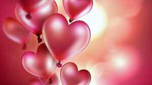 Balloon Heart Shaped Love Red 3840x2880 Wallpaper