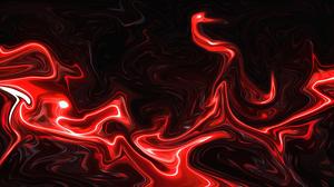 Abstract Fluid Liquid Artwork ArtStation Red Neon 3840x2160 Wallpaper
