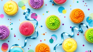 Colorful Cupcake Pastry Still Life 5760x3840 Wallpaper