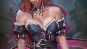 Miss Fortune League Of Legends League Of Legends Video Games Video Game Girls Witch Hat Halloween Re 3750x5000 Wallpaper