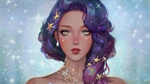 Woman Girl Star Purple Hair 1920x1080 Wallpaper