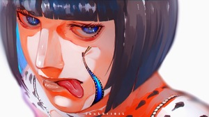 JoJos Bizarre Adventure JoJos Bizarre Adventure Golden Wind Tongue Out Blunt Bangs White Jacket Blue 2048x1064 Wallpaper