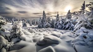 Landscape Nature Snow Winter 2000x1334 Wallpaper