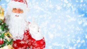 Christmas Holiday Santa Snowflake 4940x3370 Wallpaper
