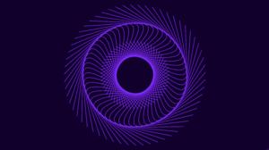 Digital Art Spiral Violet 8500x4500 Wallpaper