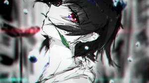 Shiro No Kitsune Anime Anime Girls Short Hair Black Hair Red Eyes Domestic Na Kanojo Tachibana Rui D 2000x2700 wallpaper