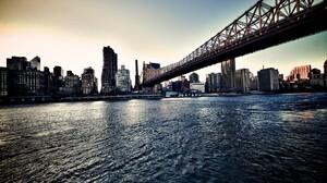 City Cityscape Sea Water Building New York City USA Queensboro Bridge 1920x1200 Wallpaper