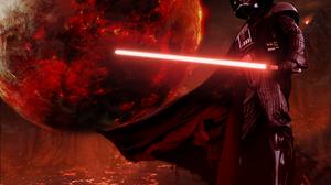 Cape Darth Vader Helmet Lightsaber Man Planet Red Lightsaber Sith Star Wars Star Wars 2048x1536 Wallpaper