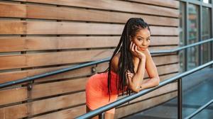 Women Brunette Long Hair Dark Hair Smiling Women Outdoors Black Women Dreadlocks Dark Eyes 3000x2000 Wallpaper