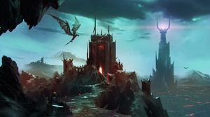 Dragon Castle Mordor 1920x1080 Wallpaper