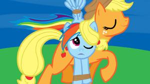 Applejack My Little Pony Rainbow Dash 1600x1300 Wallpaper