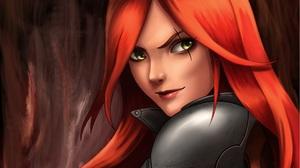 Girl Katarina League Of Legends League Of Legends Red Hair Woman Warrior 1920x1458 Wallpaper