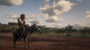 John Marston Donkey Spoilers Screen Shot Cigars Clouds Foliage Red Dead Redemption Rockstar Games 1920x1080 Wallpaper