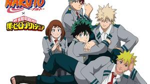 Naruto Naruto Uzumaki Izuku Midoriya Ochaco Uraraka Katsuki Bakugou Shoto Todoroki My Hero Academia  2400x1694 Wallpaper