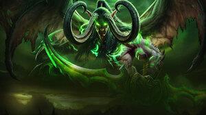 Demon Horns Illidan Stormrage Sword World Of Warcraft 2560x1000 Wallpaper
