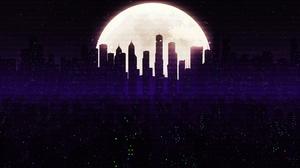 Building City Moon Night Skyscraper 1920x1080 Wallpaper