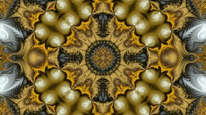 Abstract Artistic Digital Art Fractal Gold 1920x1080 Wallpaper