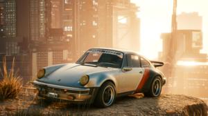 Cyberpunk 2077 4K Porsche Car City Porsche 911 Porsche 930 3840x2160 Wallpaper
