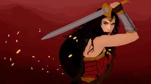 Dc Comics Gal Gadot Sword 2560x1440 Wallpaper