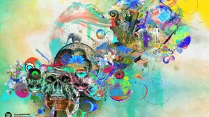 Abstract Artistic Colorful Colors Skull 2560x1600 Wallpaper