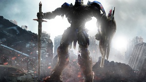 Optimus Prime Robot Shield Sword Transformers The Last Knight 3840x2364 wallpaper