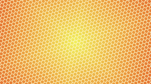 Abstract Artistic Digital Art Hexagon Minimalist Pattern Orange Color 2560x1600 Wallpaper