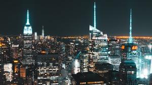 Cityscape City Empire State Building New York City 4887x2749 Wallpaper